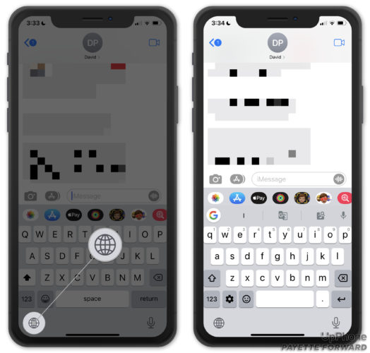 manually switch to gboard on iphone