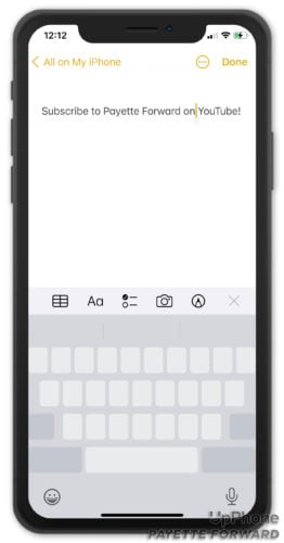 move cursor using space bar on iphone