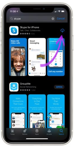Download Skype from App Store
