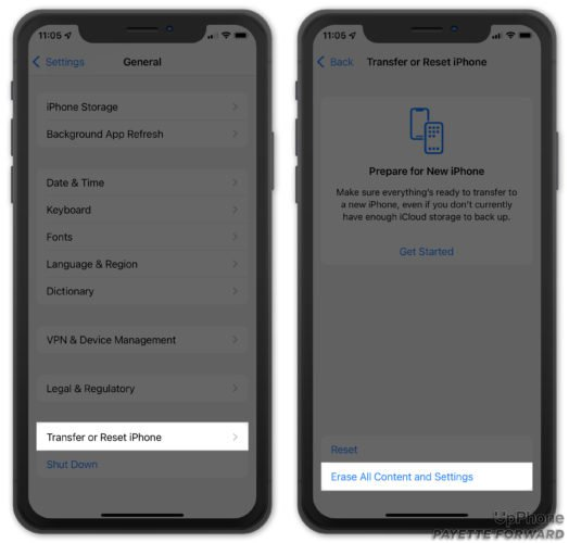 erase all content and settings on iphone ios 15