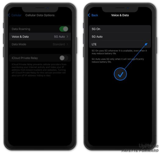 turn off 5g on iphone